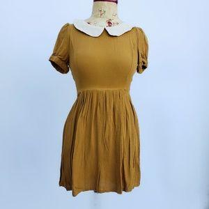 Forever 21 mustard yellow dress.